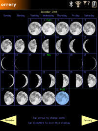 Monthly Moon Calendar