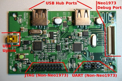 Annotated PCB Photograph